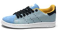 Женские кроссовки Adidas Stan Smith Original Blue Адидас Стен Смит голубые