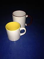 Чашка для сублимации детская (кофейная) цветная внутри 250 мл d70 (желтый)