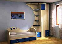 Детская мебель для подростков синяя