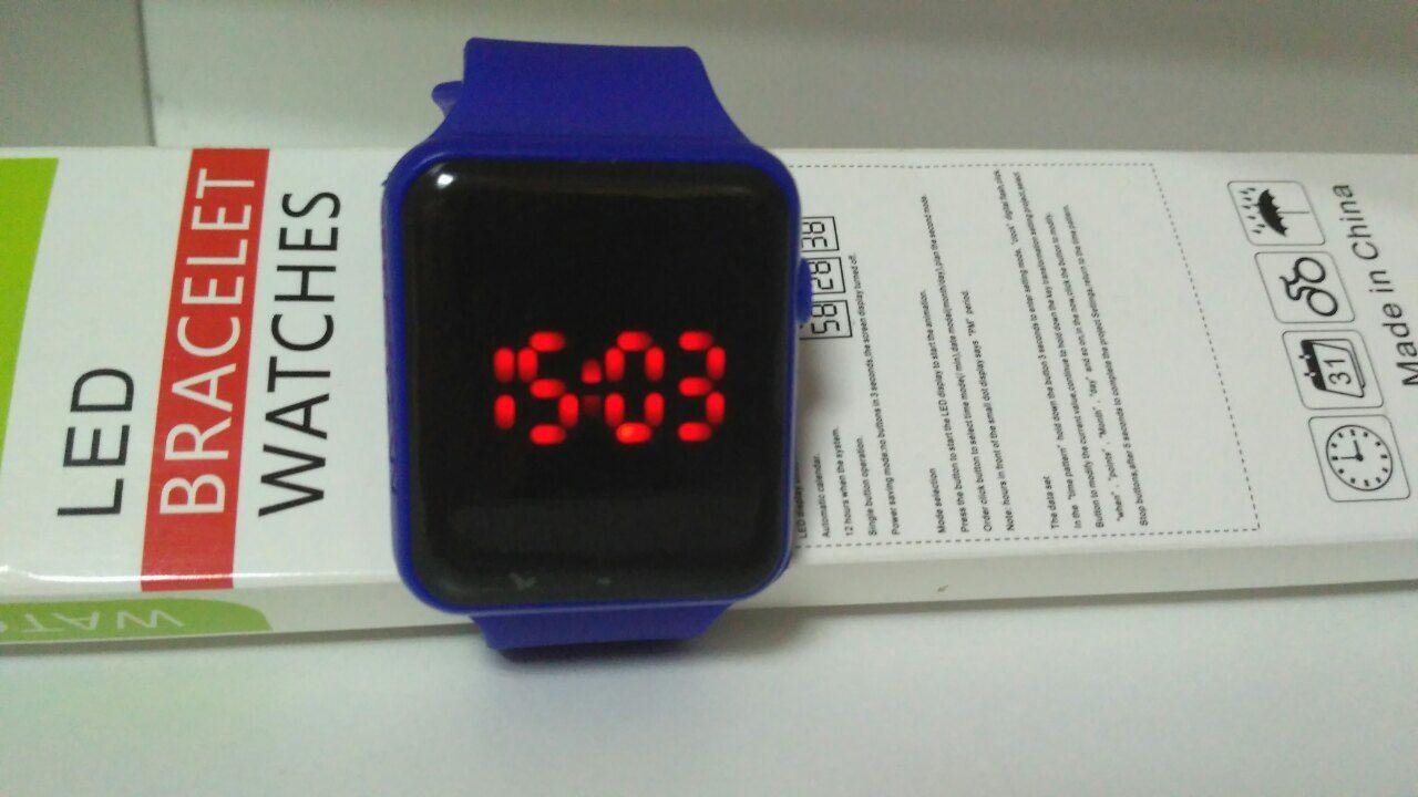Спортивные силиконовые LED часы с экраном - Вольтрон в Киеве 477fe491744de
