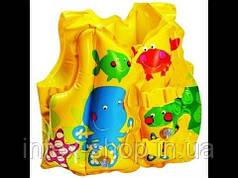 """Надувной жилет для обучения плаванию """"Веселые рыбки"""" Intex 59661"""