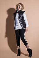 Ультралегкая молодежная женская жилетка черного цвета