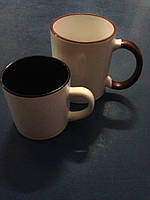 Чашка для сублимации детская (кофейная) цветная внутри 250 мл d70 (черный)