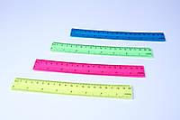 """Линейки цветные пластиковые """"Неон"""", 20 см, №1120, фото 1"""
