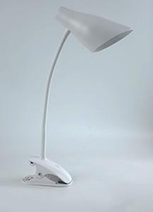 Настольная led лампа Lemanso 5W прищепка белая