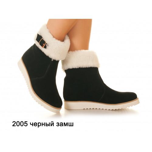 Зимние женские ботинки натуральная кожа, замш, утеплитель байка, войлок или овчина, 7 цветов Sev Mar S2005