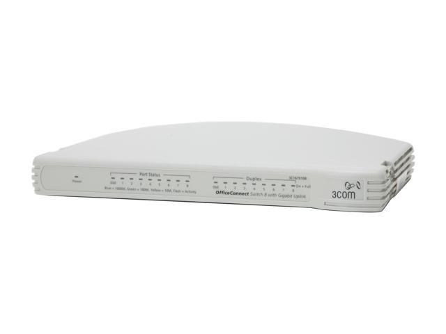 Комутатор 3Com 3C1670108 8 портів 100Mbps + 1 порт 1000Mbps бу