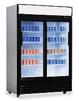 Холодильный шкаф для напитков - 1,29 x 0,76 м - с 2 стеклянными дверями GKS908