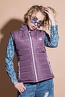 Ультралегкая молодежная женская жилетка цвета фрез