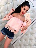 Женская блуза с кружевом DB-3210