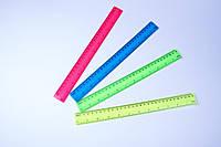 """Лінійки кольорові пластикові """"Неон"""", 30 см, №1130"""