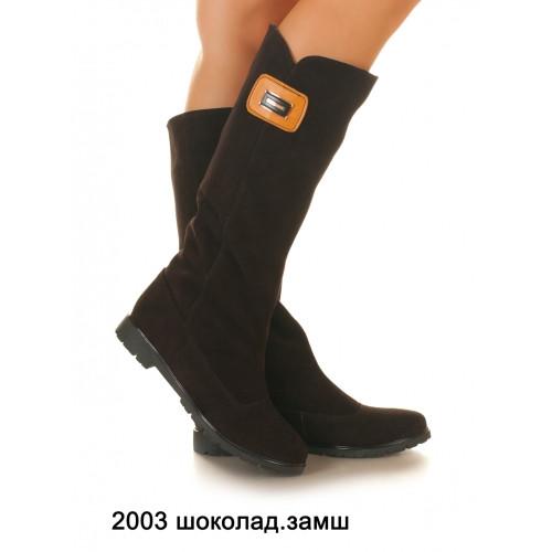 Сапоги кожаные и замш женские на низком каблуке, оптом и в розницу у прямого поставщика,6 цветов Sev Mar S2003