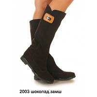 Сапоги кожаные и замш женские на низком каблуке, оптом и в розницу у прямого поставщика,6 цветов Sev Mar S2003, фото 1