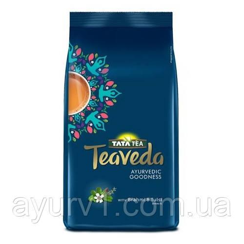 Чай черный индийский с брами и тульси, 3 элемента тела, вата, капха и питта /100 г