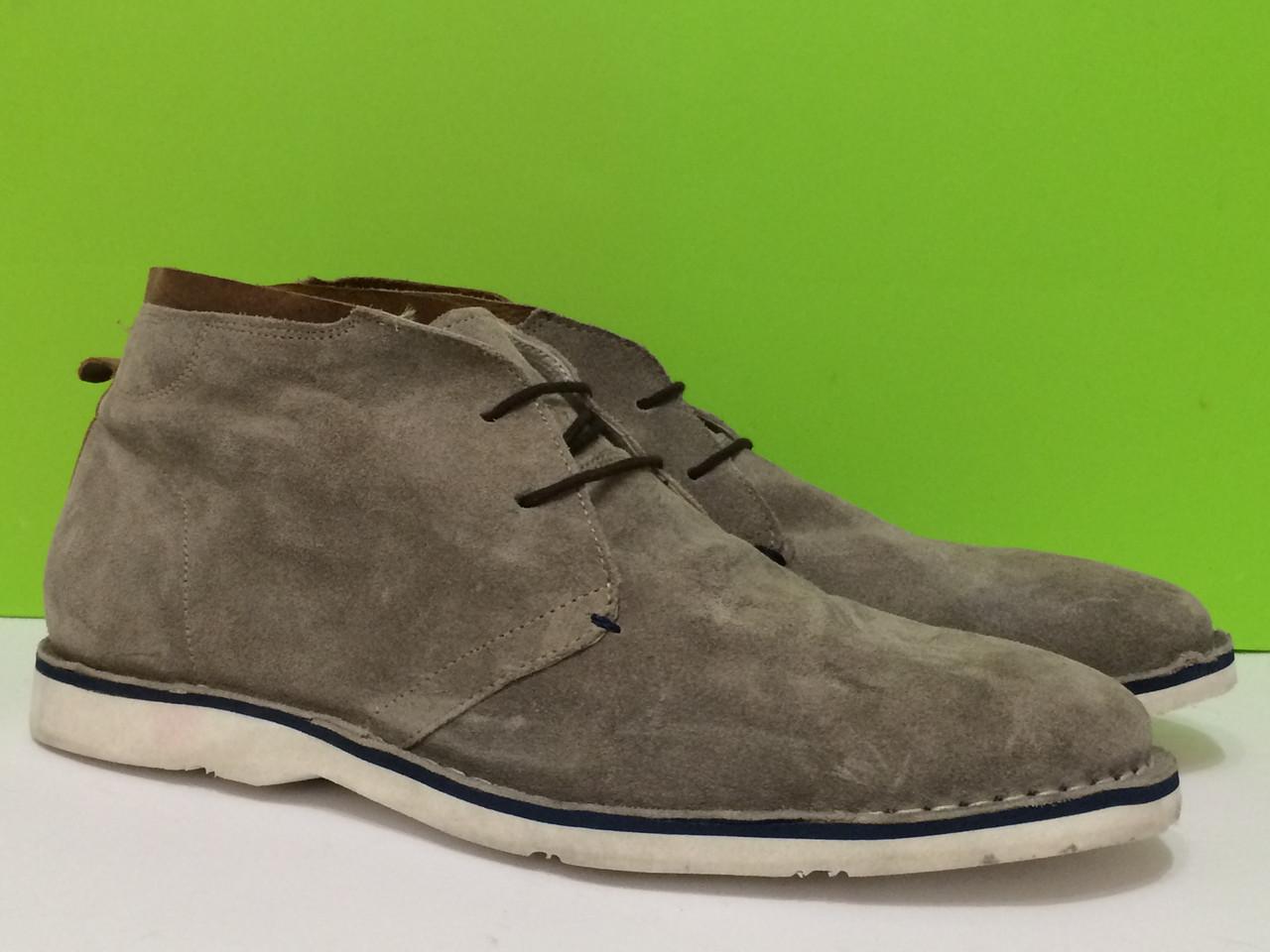 Туфли мужские светло-серые замша