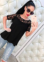 Женская блуза с кружевом DB-3211
