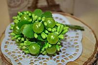 Букет с жемчугом (цена за букет из 12 шт). Цвет - зеленый