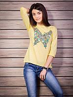 Кофта женская с принтом Бабочка p.42-50 цвет желтый VM1876-2