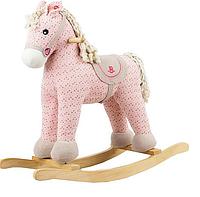 Игрушечная пони - качалка с музыкой, цв.розовый ROCK MY BABY (JR6011)