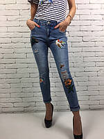 Молодежные модные джинсы 8835