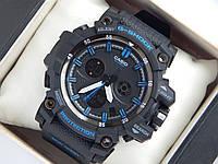Спортивные часы Casio G-SHOCK mud resist черные с синим