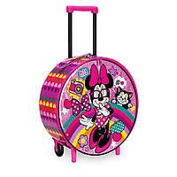 Детский чемодан Disney с ручкой на колесах