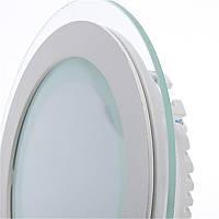 Светодиодный светильник SL 12Вт (круг,квадрат) Стекло, фото 1