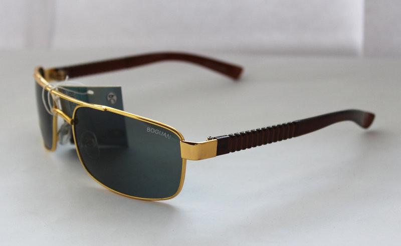 Оригинальные прямоугольные мужские солнцезащитные очки с неординарными дужками