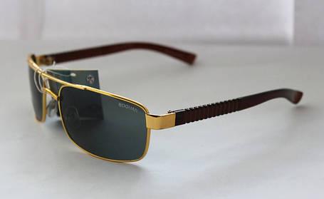 Оригинальные прямоугольные мужские солнцезащитные очки с неординарными дужками, фото 2