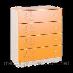 Комод детский МДМ-5 Маугли Санти Мебель оранж