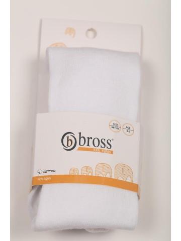 Р. 110-116 ( 5 - 7 лет ) Bross 4108 колготки белые однотонные