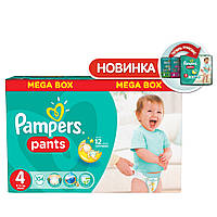PAMPERS Детские подгузники-трусики Pants Maxi (9-14 кг) Мега Упаковка 104