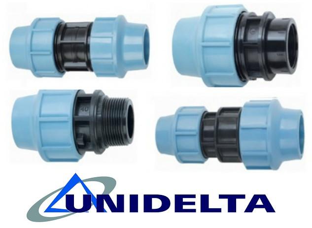 Муфты для полиэтиленовых труб unidelta