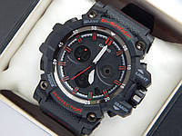 Спортивные часы Casio G-SHOCK mud resist черные с красным