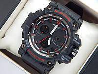 Спортивные часы Casio G-SHOCK mud resist черные с красным, фото 1