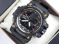 Спортивные часы Casio G-Shock черные с золотым