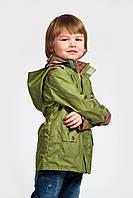 Ветровка (парка) для мальчика зеленая Модный Карапуз