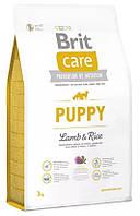 Корм для щенков всех пород c ягненком и рисом (Brit Care Puppy All Breed Lamb and Rice) 3кг