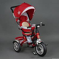 Хит! Детский трехколесный велосипед Best Trike 5688 надувные колеса,поворот сидение, красный