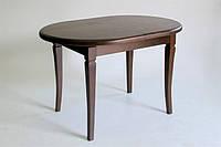 Стол обеденный раскладной овальный Ла-Рошель, орех темн