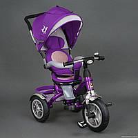 Хит! Детский трехколесный велосипед Best Trike 5688 надувные колеса,поворот сидение, фиолетовый