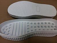 Подошва для вязаной обуви женская, 6690 белая