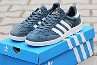 Мужские кроссовки Adidas Spezial, замшевые, синие / бег кроссовки мужские Адидас Спезиал, удобные