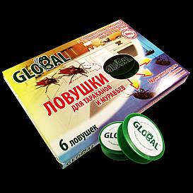 Ловушки для тараканов Global Глобал 6 шт.(ЖнБ180001)