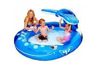 Детский надувной бассейн в виде кита интекс