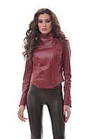 Куртка женская красного цвета 010дл