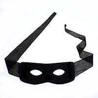 Черная маска Зорро мужская