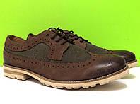 Мужские кожаные туфли броги инспекторы Marc
