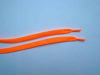 Шнурки обувные, флюоресцентные, плоские, ширина 9 мм, оранжевые, длина 1 м.