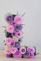Объёмная буква (цветочками)